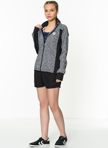 Desenli Fermuarlı Sweatshirt-Hummel